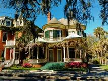 Viktorianische Häuser lizenzfreie stockbilder