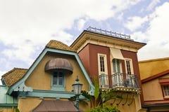 Viktorianische Häuser Stockfotos