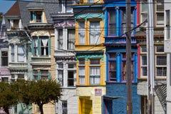 Viktorianische Häuser in San Francisco stockfotos