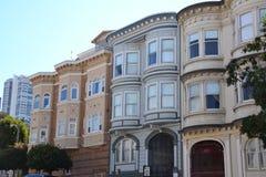Viktorianische Häuser von San Francisco Stockfotos
