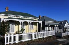 Viktorianische Häuser Neuseeland Stockfotos