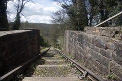 Viktorianische Kohlengrube-Eisenbahn Stockbilder