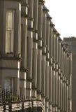 Viktorianische Kolonienhäuser machten vom Sandstein in Edinburgh, Schottland lizenzfreies stockfoto