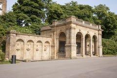 Viktorianische Parkstrukturen Stockfoto