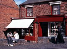 Viktorianische Shops, Dudley Lizenzfreie Stockbilder