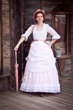 Viktorianische Steampunk Frau Stockbild