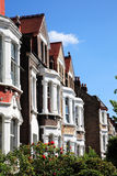 Viktorianische terassenförmig angelegte Häuser Lizenzfreies Stockfoto