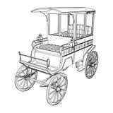 Viktorianischer Fahrerhaus-Wagen-Vektor 02 Stockfotografie