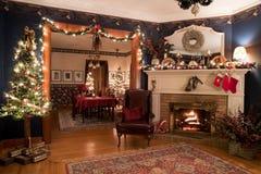 Viktorianischer Weihnachtsinnenraum Stockbild