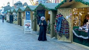 Viktorianischer Weihnachtsmarkt - Gloucester-Kais 6 Stockfoto