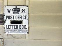 Viktorianisches Ära letterbox Lizenzfreie Stockfotografie