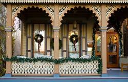 Viktorianisches Bett u. Frühstück lizenzfreies stockbild