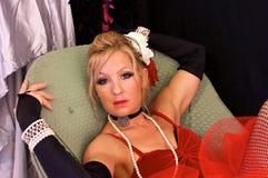 Viktorianisches Prostituiertees lizenzfreie stockfotos