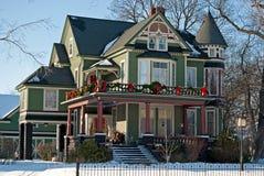Viktorianisches Weihnachtshaus Lizenzfreies Stockbild