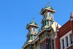 Viktoriansk arkitektur i Gaslamp, San Diego royaltyfri fotografi