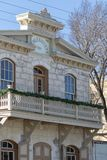 Viktoriansk byggnad i komfort Texas arkivfoto