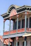 Viktoriansk byggnadscloseup i komfort Texas fotografering för bildbyråer
