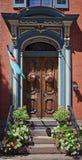 Viktoriansk ingångsdörröppning Royaltyfria Foton