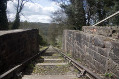 Viktoriansk kolgruvajärnväg Arkivbilder