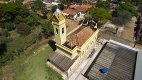 Viktoriansk liten katolsk kyrka, kommunalt område av Botucatu royaltyfria bilder