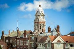 Viktoriansk stadshusbyggnad på Eastbourne i Sussex Royaltyfri Foto