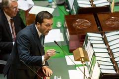 Viktoriansk statlig parlament - fråga Tid Februari 9, 2016 Arkivbild