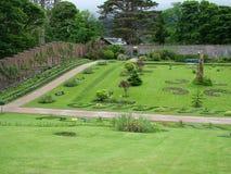 Viktoriansk Walled trädgård på den Kylemore abbotskloster Arkivbilder