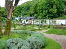 Viktoriansk Walled trädgård på den Kylemore abbotskloster Royaltyfri Fotografi