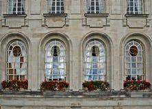 Viktorianska fönster cardiff Royaltyfri Bild