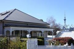 Viktorianska hus i Auckland Royaltyfri Fotografi