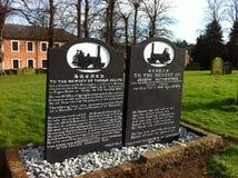 Viktorianska järnväg mäns gravar royaltyfria bilder