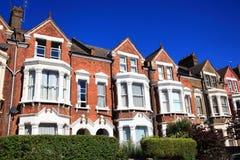 Viktorianska terrasserade hus Arkivbilder