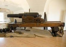 Viktorianskt artilleri Arkivfoto