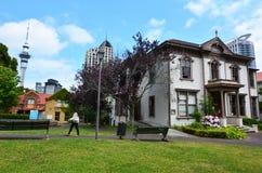 Viktorianskt handels- hus i Auckland NZL Fotografering för Bildbyråer