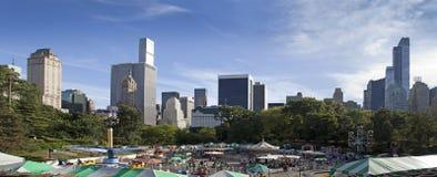 Viktorianskt trädgårdnöjesfält i Central Park New York City Royaltyfria Bilder