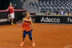 Viktorija Golubic-Training bei Fed Cup 2018 stockfoto