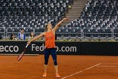 Viktorija Golubic-Training bei Fed Cup 2018 stockfotografie