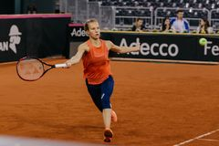 Viktorija Golubic-Training bei Fed Cup 2018 lizenzfreies stockfoto