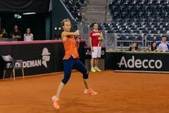 Viktorija Golubic-Training bei Fed Cup 2018 lizenzfreie stockfotos