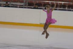 Viktoriya Rodionova de Russie exécute le programme de patinage gratuit de filles argentées de la classe III Photos libres de droits