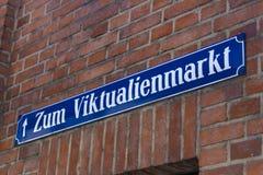 Viktualienmarkt在慕尼黑,巴伐利亚,德国, 2015年 库存图片