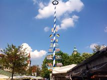 Viktualienmarkt в Мюнхене, Баварии, Германии Стоковое фото RF