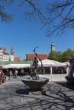 Viktualienmarkt em Munich, Baviera, Alemanha, 2015 imagem de stock royalty free