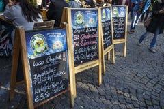 Viktualienmarkt en Munich, Baviera, Alemania, 2015 Imagen de archivo