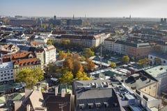 Viktualienmarkt en Munich, Baviera, Alemania, 2015 fotografía de archivo