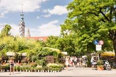 Viktualienmarkt i Munich Royaltyfria Bilder