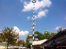 Viktualienmarkt a Monaco di Baviera, Baviera, Germania Fotografia Stock Libera da Diritti