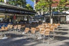 Viktualienmarkt a Monaco di Baviera, Baviera, Germania, 2015 immagine stock libera da diritti