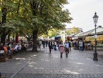 Viktualienmarkt Munich, Alemania imagenes de archivo