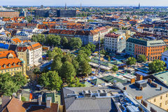 Viktualienmarkt, Munich, Bavaria, Germany. The Viktualienmarkt is a daily food market and a square in the center of Munich, Germany. The Viktualienmarkt Royalty Free Stock Photo